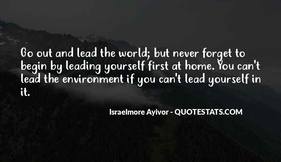 Quotes About Leading Yourself #788486