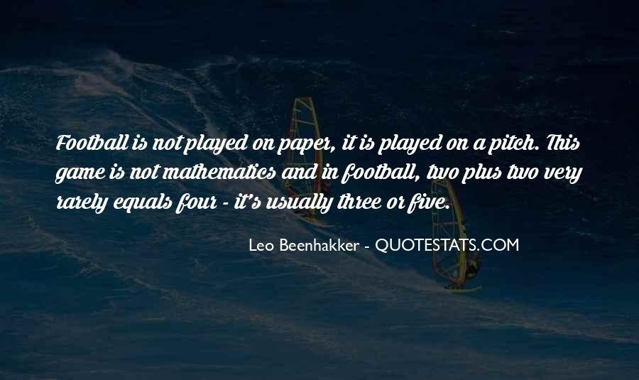 Quotes About Football Pitch #125933