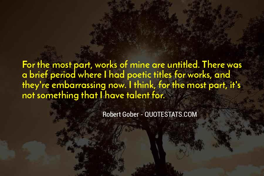 Gober's Quotes #725976