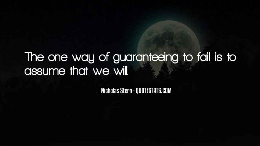 Guaranteeing Quotes #1073371