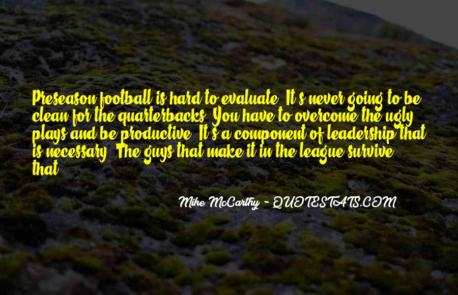 Quotes About Quarterbacks #10759