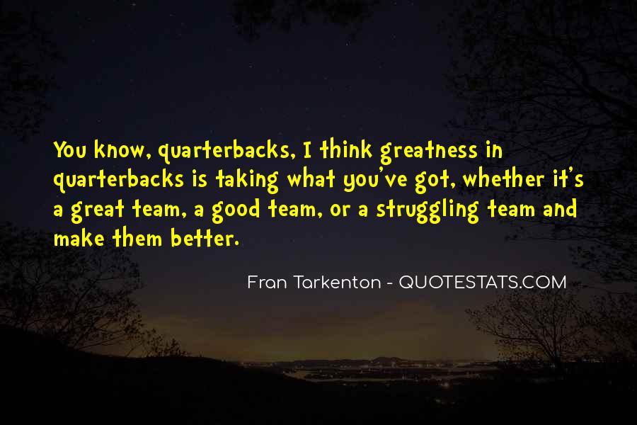 Quotes About Quarterbacks #1604405