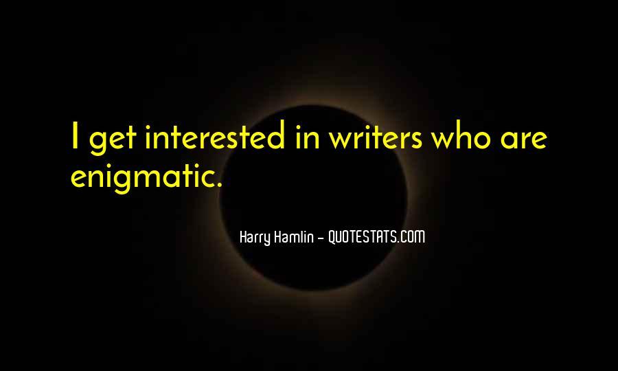 Hamlin's Quotes #1144936