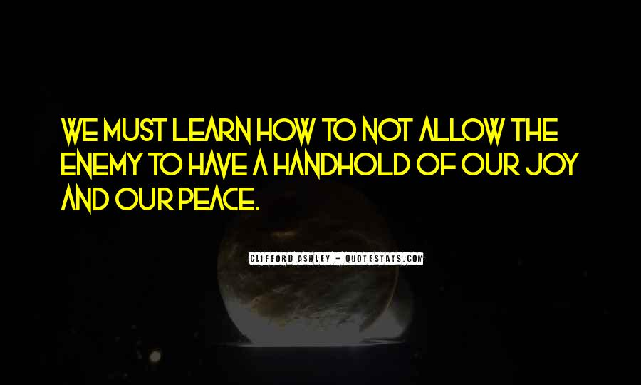 Handhold Quotes #988658